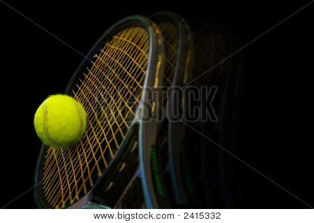 Ball And Racket On Black Motion