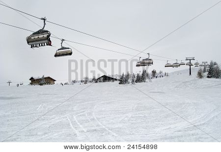 Ski Lift In Wagrain