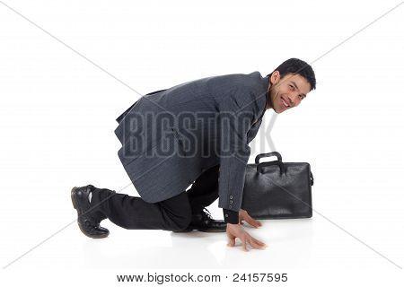Nepalese Businessman Start Position