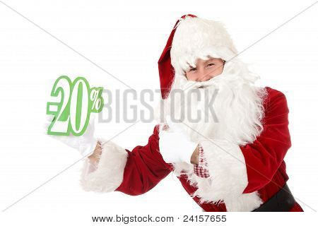 Young Caucasian Man Santa Claus, Discount