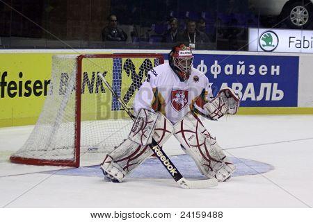 Goalkeeper Mantas Armalis Of Lithuania