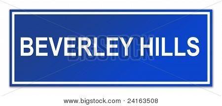 Beverley Hills Street Sign