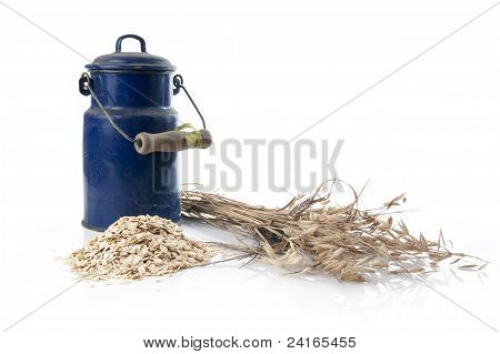 Oatmeal And Flagon Of Milk