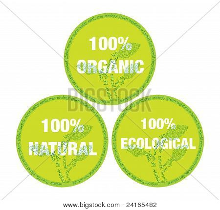organic and ecological symbol