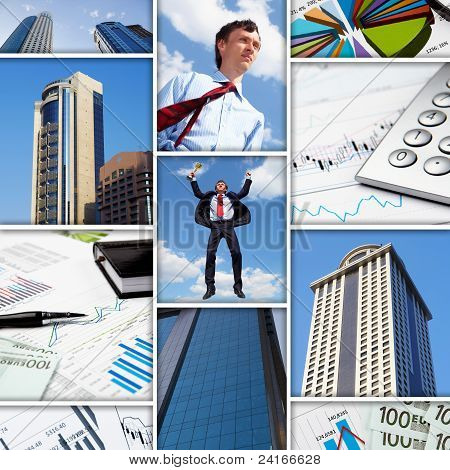 Business collage of some business pictures