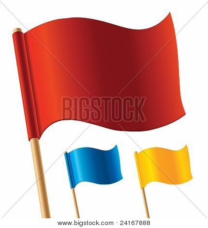 Vector colorful flags