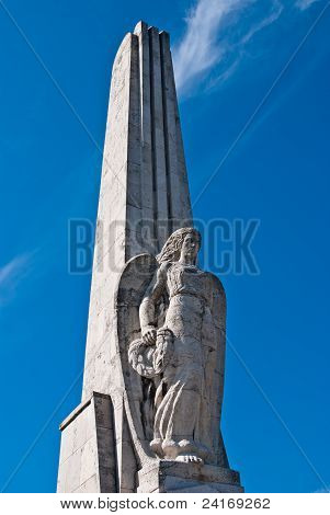 Angel On The Obelisk In Alba Iulia