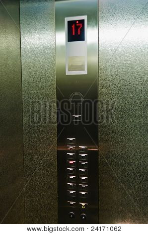 Button And Indicator In The Elevator