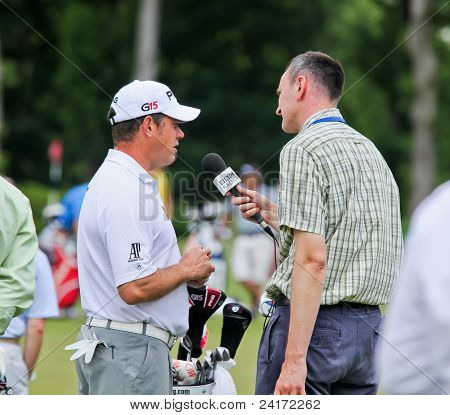 Lee Westwood interviewed by BBC