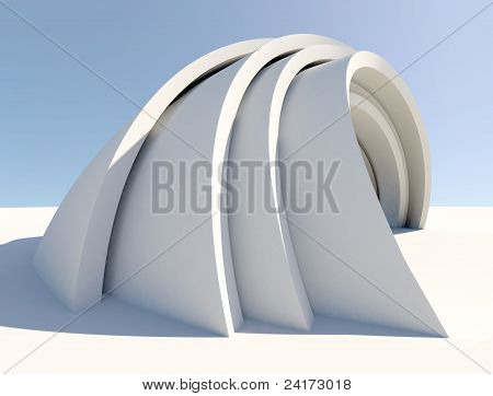 Twisted futuristic architecture form