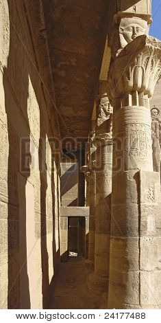 Passage At The Temple Of Philae In Egypt