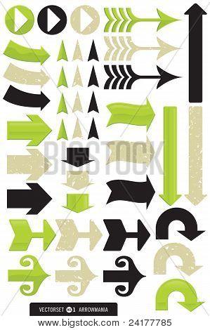 Set of 11 Different Arrow Vectors