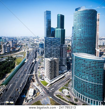 Aerial View Of Moscow With