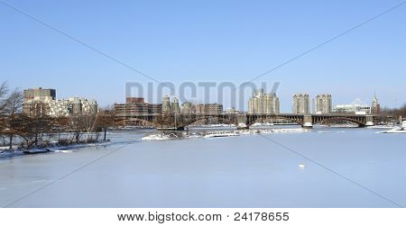 Boston Scenery At Winter Time