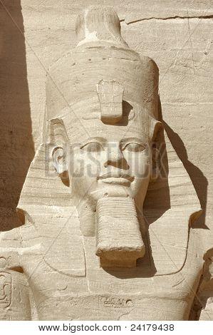 Ramesses Portrait At Abu Simbel Temples