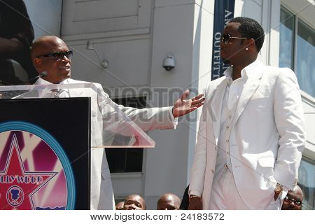 LOS ANGELES - MAY 2: Sean 'P Diddy' Combs (R) at a ceremony honoring him with a star on the Hollywood Walk of Fame on May 2, 2008 on Hollywood Boulevard in Los Angeles, California