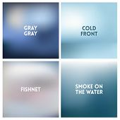 Abstract Vector Silvery Gray White Blurred Background Set. Square Blurred Backgrounds Set - Under Se poster