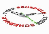 stock photo of goal setting  - time schedule planning tasks in agenda setting goals and organize the day or meeting appointment on the agenda time management and daily organization - JPG