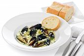 Mussels With Bluecheese