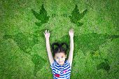 World Peace Day And International Day Of Peace Concept With Peaceful Mind Kid Resting In Clean Natur poster