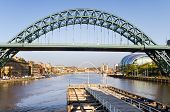 picture of tyne  - View of Tyne bridge down stream with Sage and baltic buildings - JPG