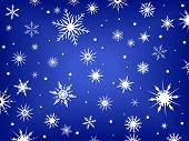 foto of snow border  - Snowflakes on a blue background - JPG