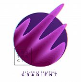 Explosive Gradient Banner Composition, Colorful Topography Blend Shapes, Distortion Effects. Eps10 V poster