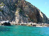 Kayaking Near An Island