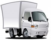 picture of moving van  - Vector cartoon delivery truck - JPG