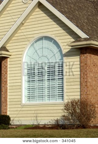 Arched house window stock photo stock images bigstock - Houses with arched windows ...
