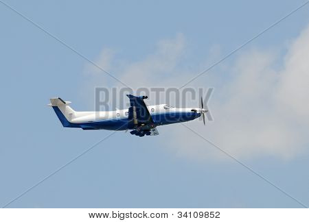 Turboprop Airplane Used For Business Travel