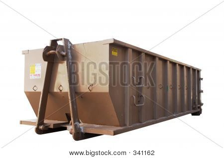 Isolated Dumpster