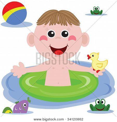 Swimmer funny boy