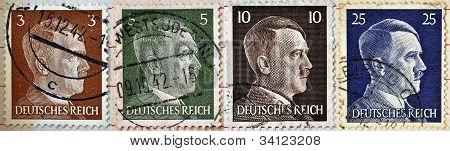Adolf Hitler On Stamp