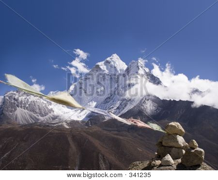 Ama Dablam Prayer Flags Nepal