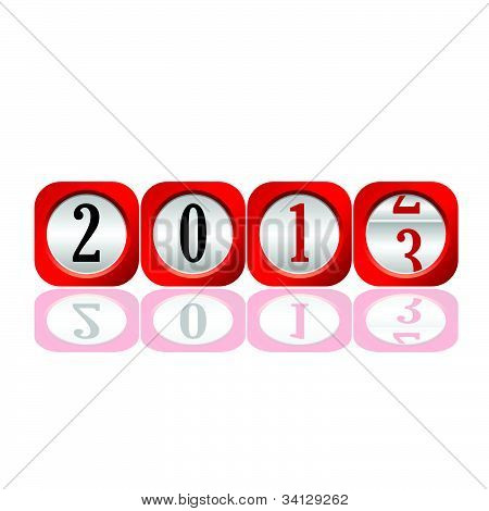 2013 Counter For New Year Illustration