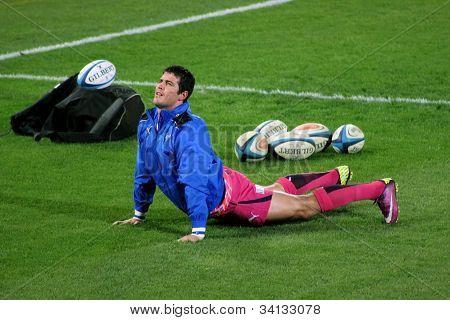 Rugby Morne Steyn Stretching Bulls South Africa 2012
