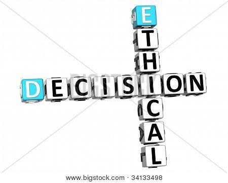 3D Ethical Decision Crossword