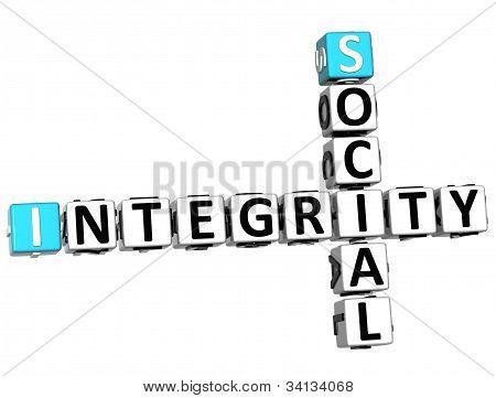 3D Social Integrity Crossword