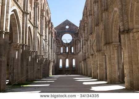 Apse in the Abbey of San Galgano, Tuscany.