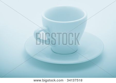 empty coffee cup. demitasse