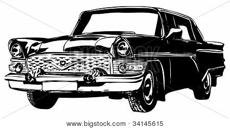 Coche Retro, vector illustration