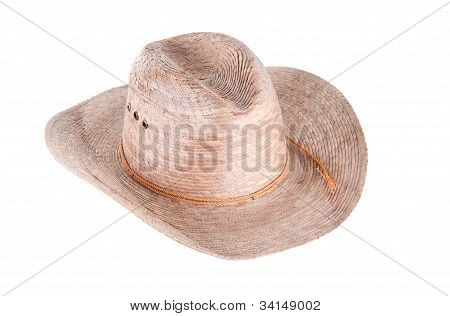 Men's Cowboy Hat Isolated On White Background
