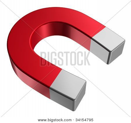 Red horseshoe magnet