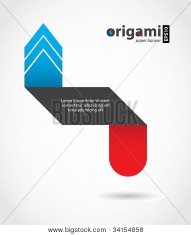 Special Paper Origami Arrow, Element For Business Website