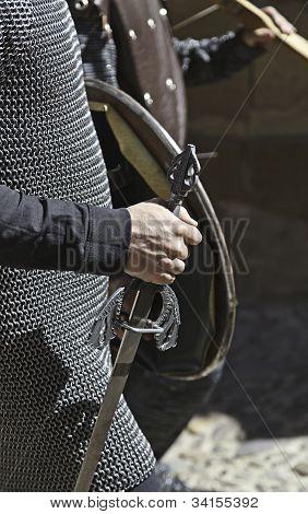 Knight Templar with sword