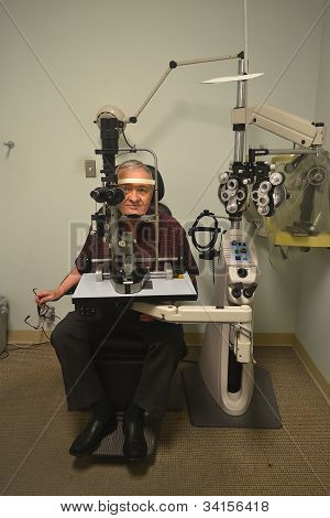 Patient With Optometrist.