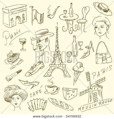 France - Paris - doodles