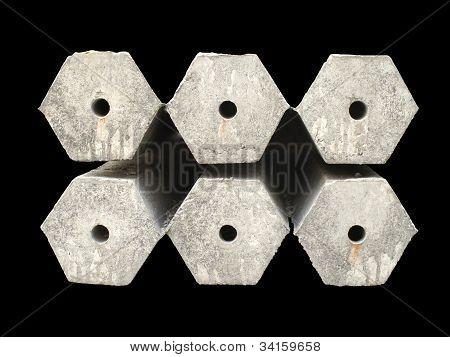 Hexagon Concrete Pillar
