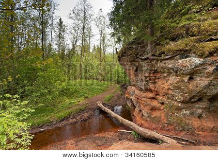 Red Sand Of River-bank